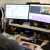 Picture of a TV promo producer editing on an Avid Media Composer.