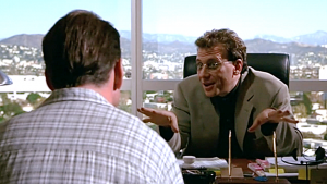 Picture of Paul Reiser quizzing Bruce Willis in The Story Of Us